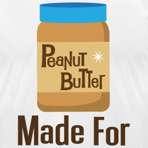 Made For Each Other Couples (Peanut Butter) T-shir - Men's T-Shirt by American Apparel