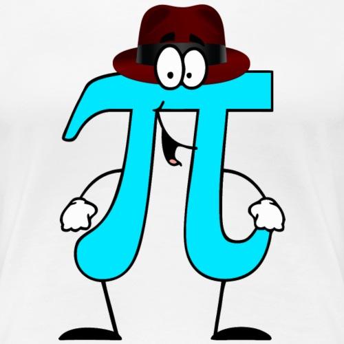 Pi Cartoon Wearing Fedora