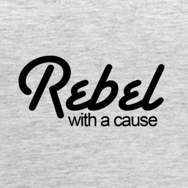 Rebel With A Cause Tank - White