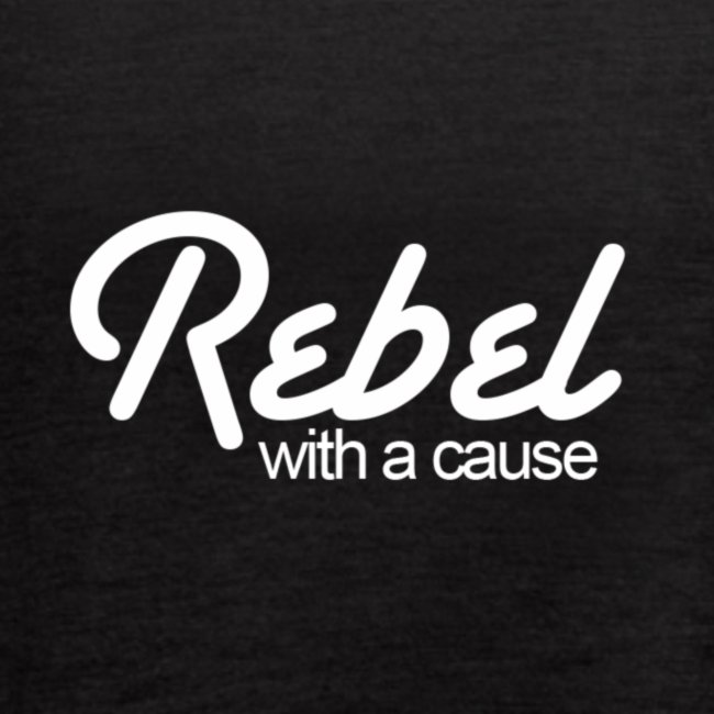 Rebel With A Cause Flowy Tank - Black