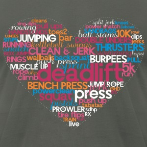 Fitness Heart - AMRAP Style T-Shirts - Men's T-Shirt by American Apparel