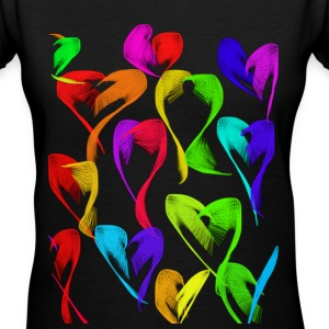 Many Hearts Women's Tee - Women's V-Neck T-Shirt
