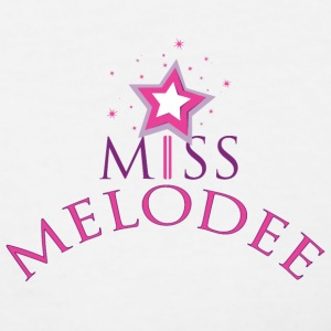 Ladies Miss Melodee Color Logo V-Neck - Women's V-Neck T-Shirt