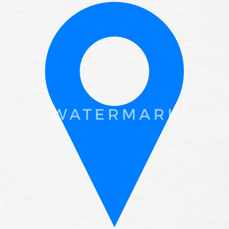 location icon blue t shirt spreadshirt