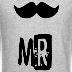 mr mustache Long Sleeve Shirts