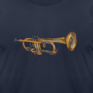 Trumpet Musician Artwork T-Shirts - Men's T-Shirt by American Apparel