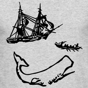 Moby Dick Illustration Long Sleeve Shirts - Men's Long Sleeve T-Shirt by Next Level