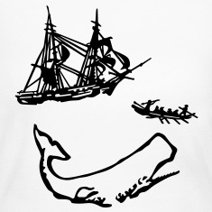 Moby Dick Illustration Long Sleeve Shirts