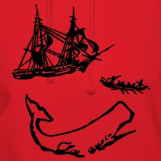 Moby Dick Illustration Hoodies