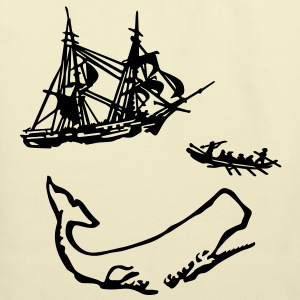 Moby Dick Illustration Bags  - Eco-Friendly Cotton Tote