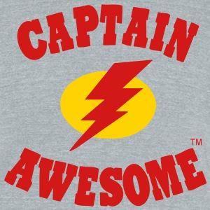 Captain Awesome T-Shirts - Unisex Tri-Blend T-Shirt by American Apparel