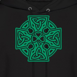 Shamrock celtic cross - Men's Hoodie