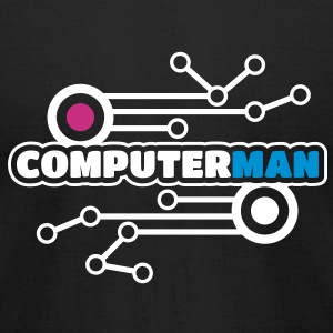 Computerman Men's T-shirts - Men's T-Shirt by American Apparel