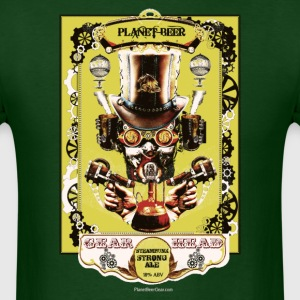 Planet Beer Gear Head Steampunk Strong Ale Men's T - Men's T-Shirt