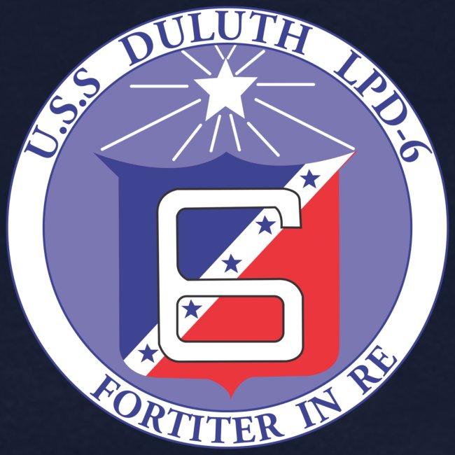 USS DULUTH LPD-6 WOMENS CREST TEE