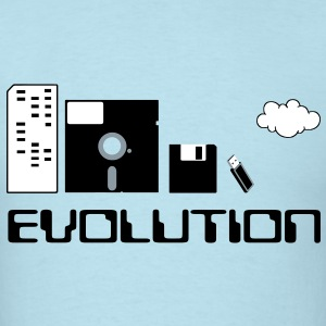 Computer Storage Evolution T-Shirts - Men's T-Shirt