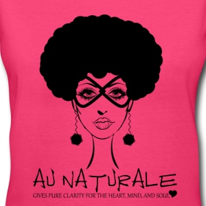 Au Naturale - Women's V-Neck TShirt Natural Hair - Women's V-Neck T-Shirt