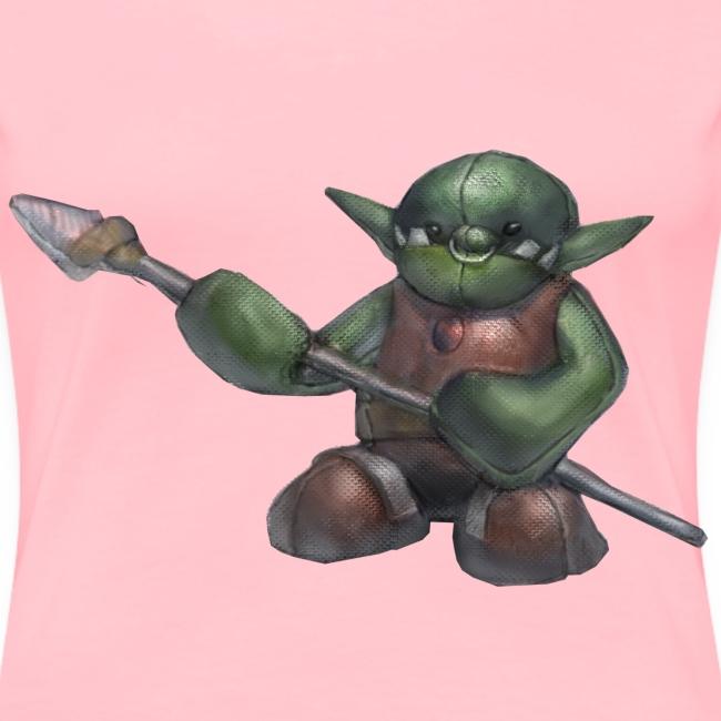 Ferious Orc Warrior Plushie Women's Premium T-Shirt