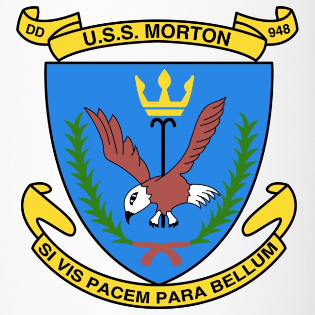 USS MORTON DD-948 Travel Cup