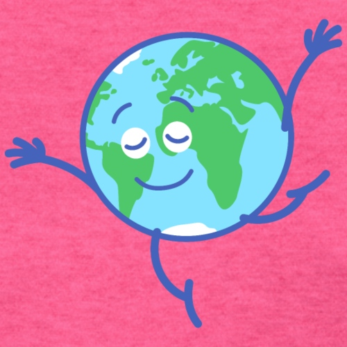 Cute planet Earth dancing graciously