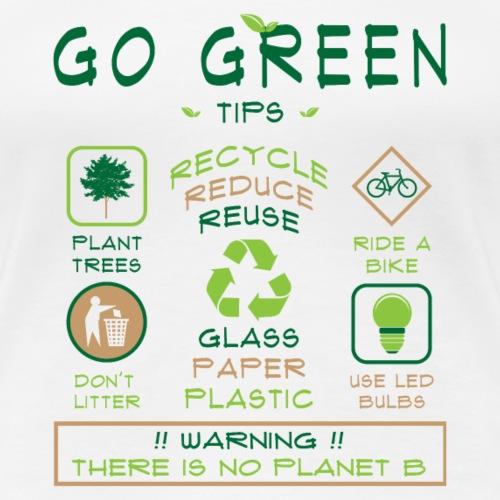 Go Green Tips T-shirt