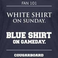 Design ~ Blue Shirt on Gameday Women's V-neck T-Shirt