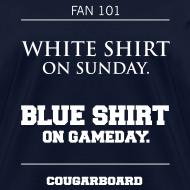 Design ~ Blue Shirt on Gameday Women's T-Shirt