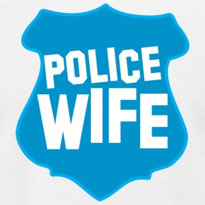 POLICE BADGE wife wive married to cops T-Shirts - Men's T-Shirt by American Apparel