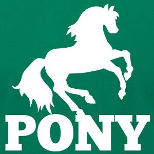 PONY rider riding sport T-Shirts - Men's T-Shirt by American Apparel