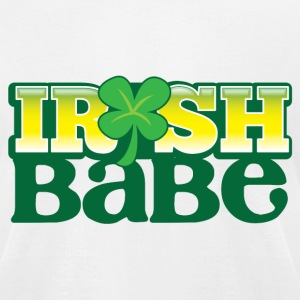 IRISH BABE shamrock cute girl sexy T-Shirts - Men's T-Shirt by American Apparel