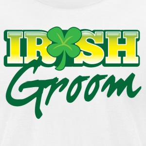 IRISH GROOM marrying an Irishman  T-Shirts - Men's T-Shirt by American Apparel