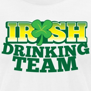 IRISH DRINKING TEAM St PATRICKS DAY T-Shirts - Men's T-Shirt by American Apparel