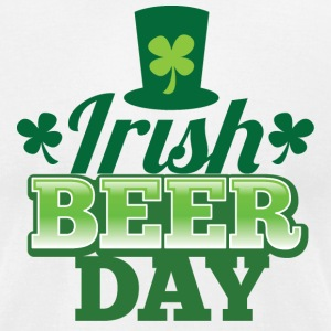 IRISH BEER DAY beers shamrock hat St Patrick's day T-Shirts - Men's T-Shirt by American Apparel