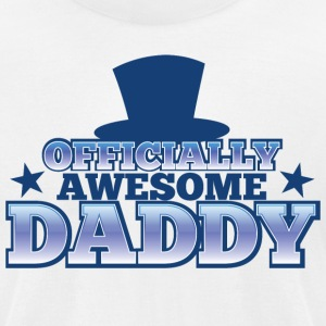OFFICIALLY AWESOME DADDY with shoes bows cute! T-Shirts - Men's T-Shirt by American Apparel