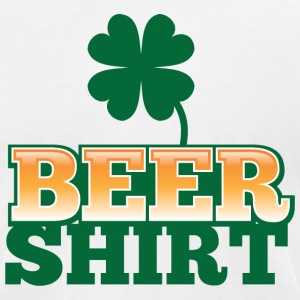 BEER SHIRT with shamrock beers pint T-Shirts - Men's T-Shirt by American Apparel