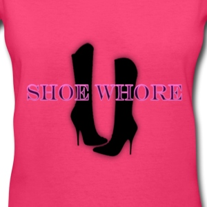 Shoe Whore Tee - Women's V-Neck T-Shirt