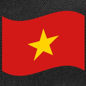 Vietnam Flag Wave Caps - Snap-back Baseball Cap