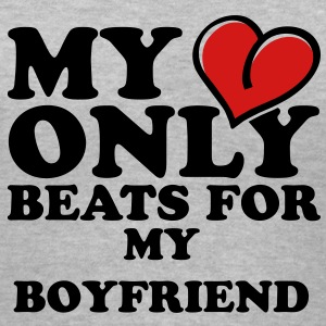 My heart only beats for Women's T-Shirts - Women's V-Neck T-Shirt