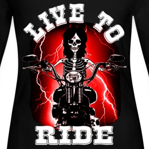live to ride Long Sleeve Shirts - Women's Long Sleeve Jersey T-Shirt