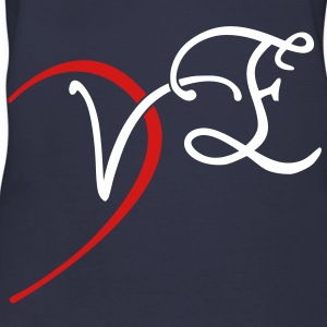 VE - LOVE couple shirt Women's T-Shirts - Women's V-Neck T-Shirt