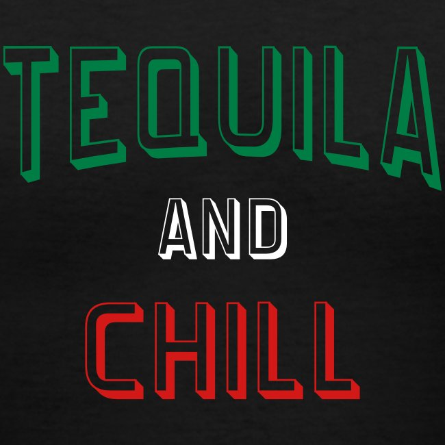 Tequila And Chill Womens V-Neck Tshirt
