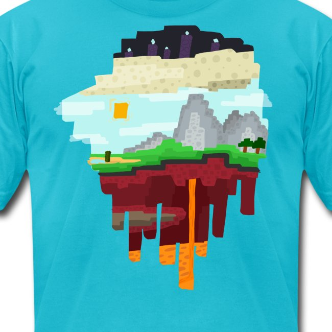 The 3 Realms - Minecraft Inspired T-Shirt