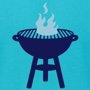 grill with fire T-Shirts - Men's T-Shirt by American Apparel