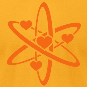 Heart Atom T-Shirts - Men's T-Shirt by American Apparel