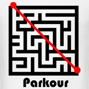 Parkour through maze - Men's T-Shirt