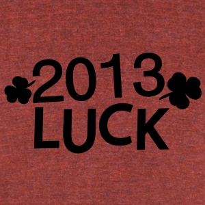 2013 LUCK  lucky charm Men's Tri-Blend Vintage T-S - Unisex Tri-Blend T-Shirt by American Apparel