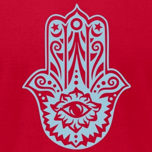 Hamsa Amulet, Hand of Fatima, Divine Protection T-Shirts - Men's T-Shirt by American Apparel