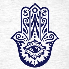 Hamsa Amulet, Hand of Fatima, Divine Protection T-Shirts