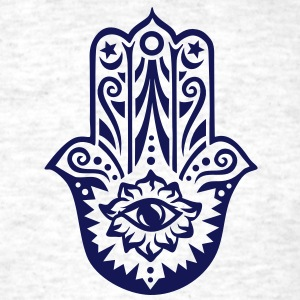 Hamsa Amulet, Hand of Fatima, Divine Protection T-Shirts - Men's T-Shirt