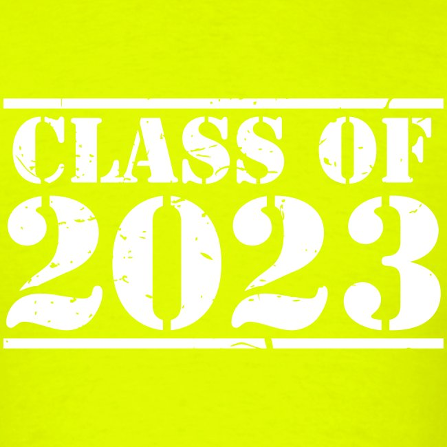 Class of 2023 distressed grad logo